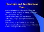 strategies and justifications cont