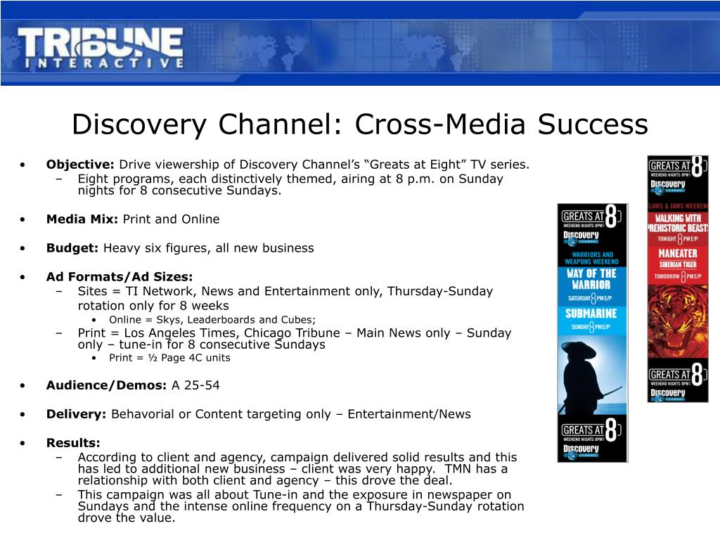discovery channel cross media success