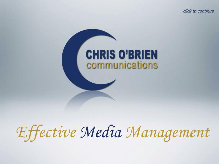 Effective media management l.jpg