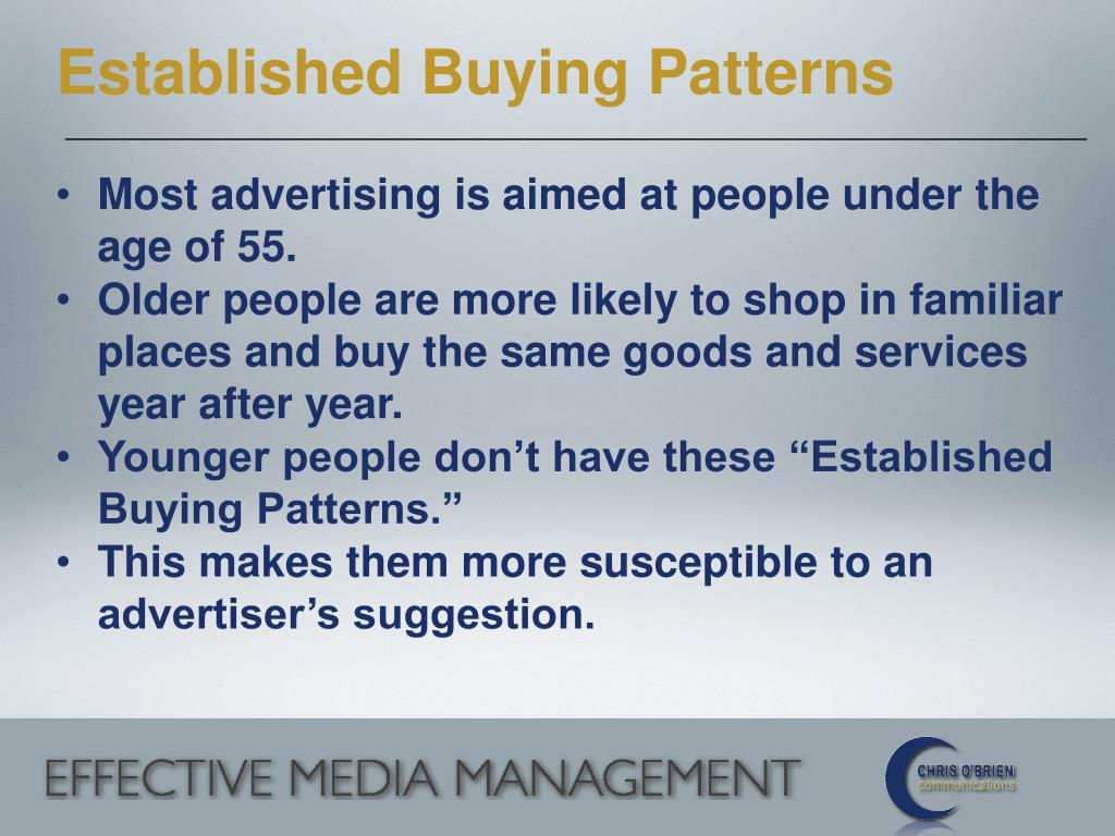 Established Buying Patterns