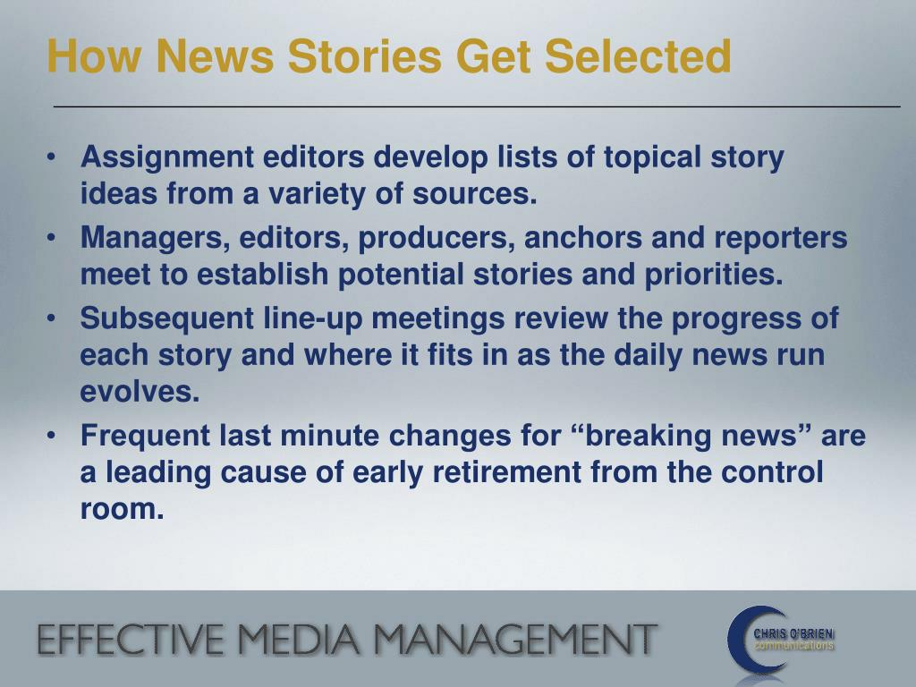 How News Stories Get Selected