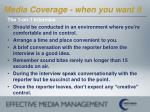 media coverage when you want it26