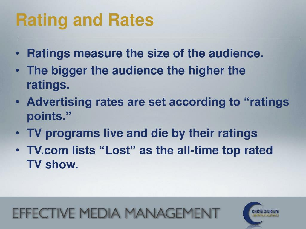 Rating and Rates