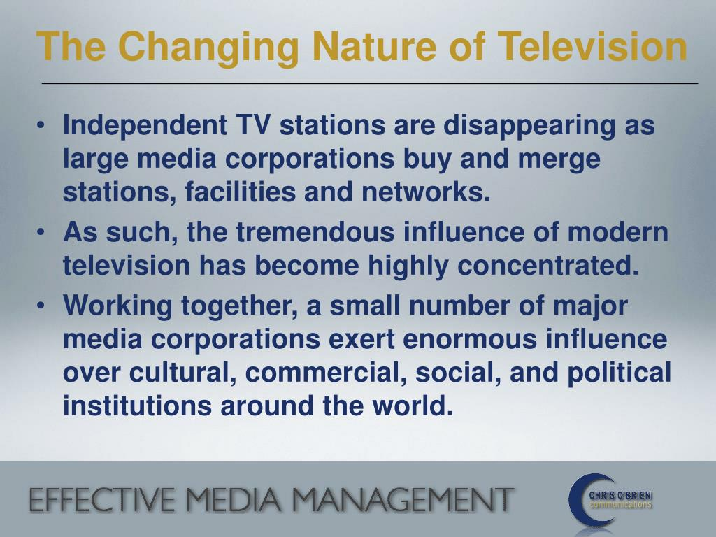 The Changing Nature of Television