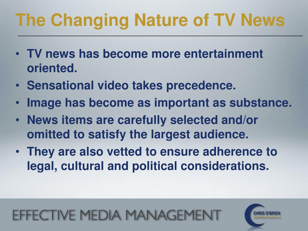 The Changing Nature of TV News