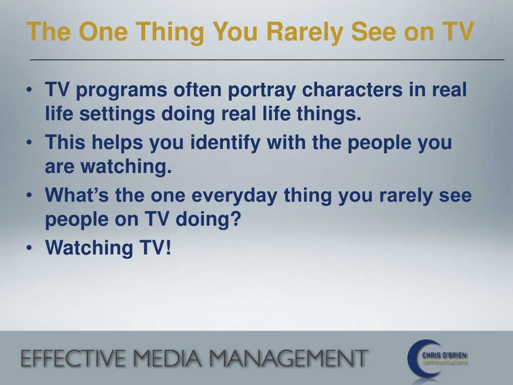 The One Thing You Rarely See on TV