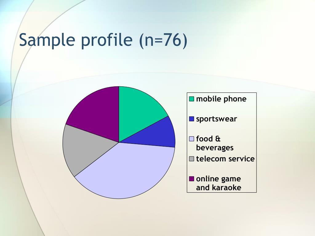 Sample profile (n=76)
