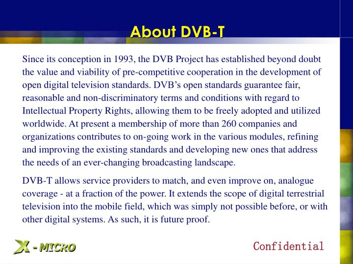 About dvb t