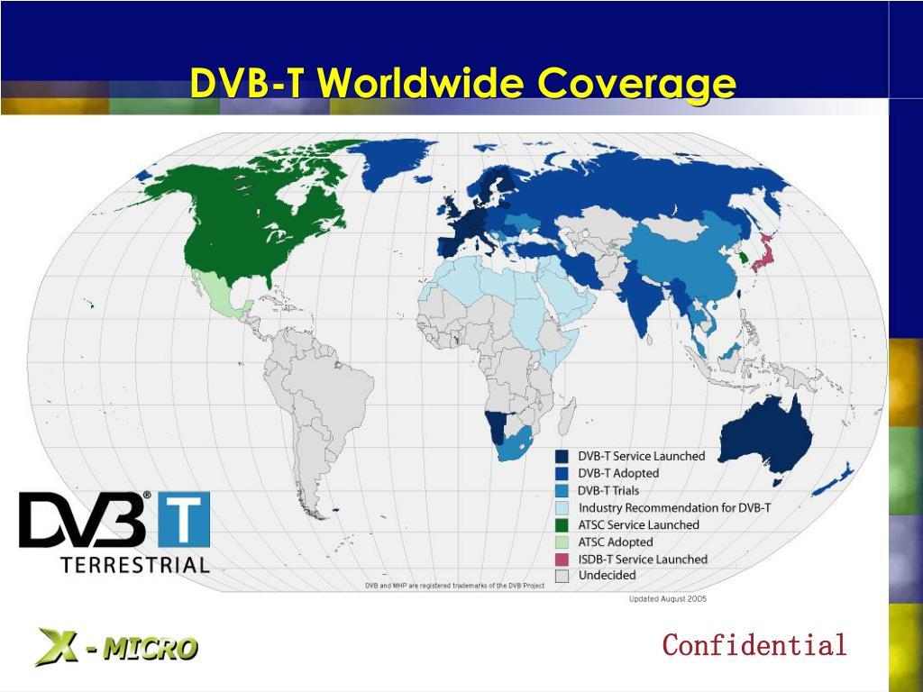 DVB-T Worldwide Coverage