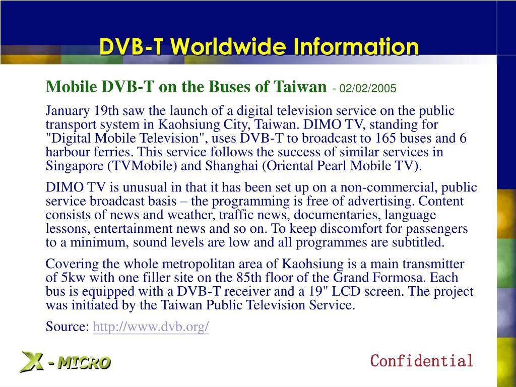 DVB-T Worldwide Information