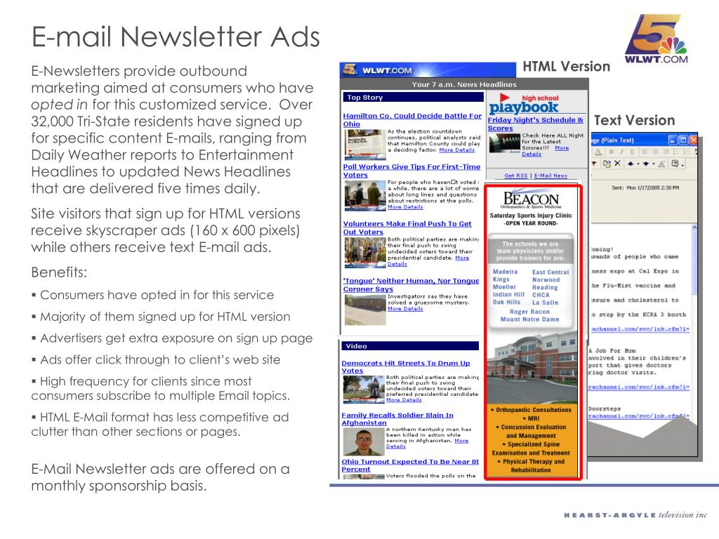 E-mail Newsletter Ads