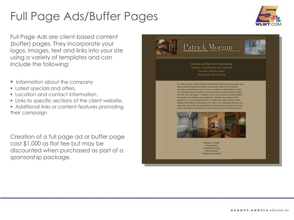 Full Page Ads/Buffer Pages