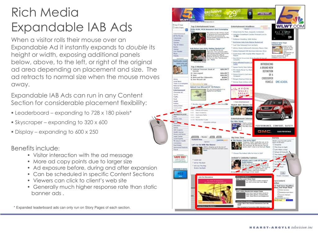 Rich Media Expandable IAB Ads