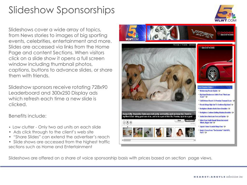 Slideshow Sponsorships