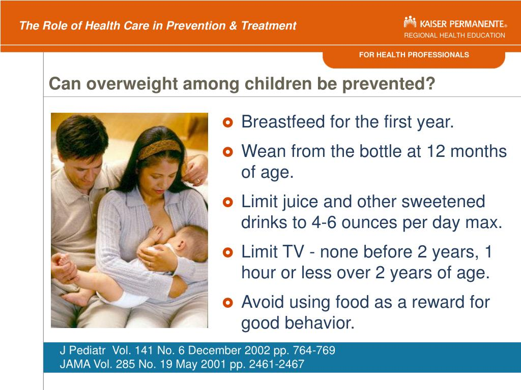 Can overweight among children be prevented?