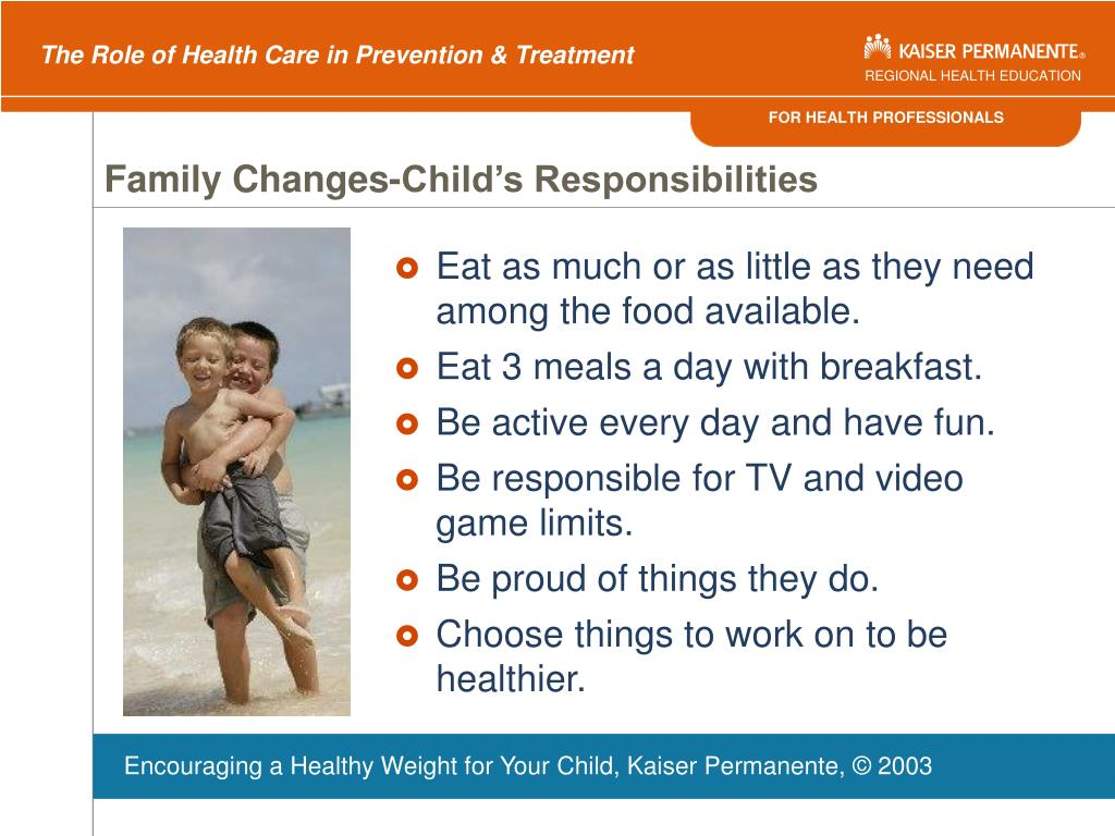 Family Changes-Child's Responsibilities