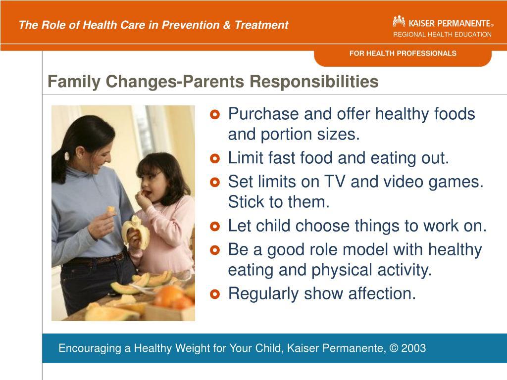 Family Changes-Parents Responsibilities