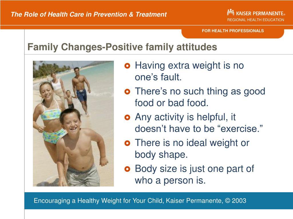 Family Changes-Positive family attitudes