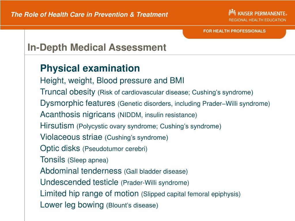 In-Depth Medical Assessment