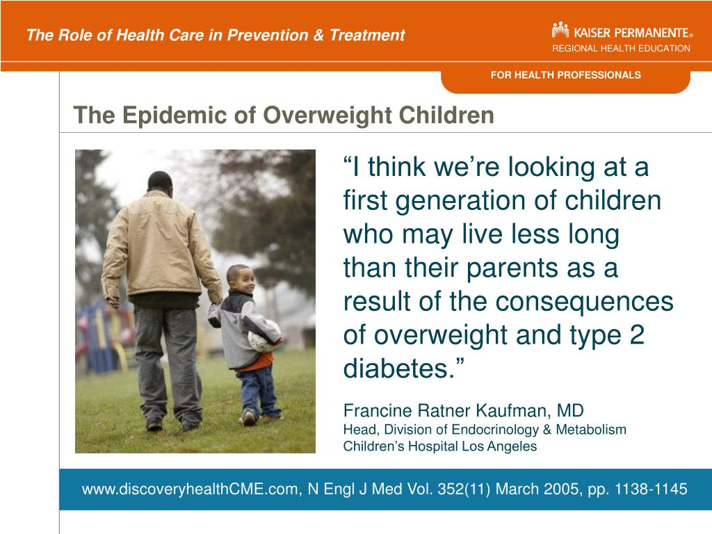 The Epidemic of Overweight Children