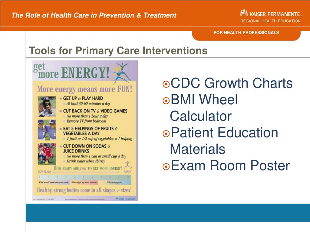 Tools for Primary Care Interventions