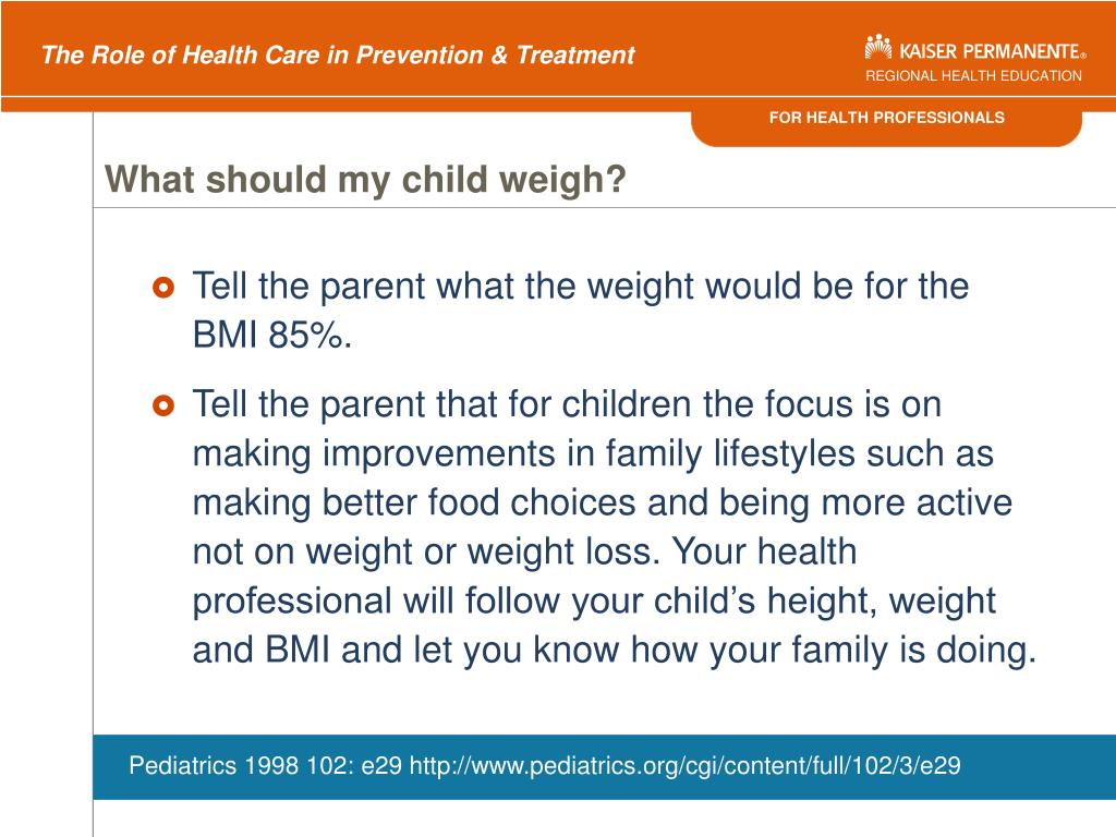 What should my child weigh?