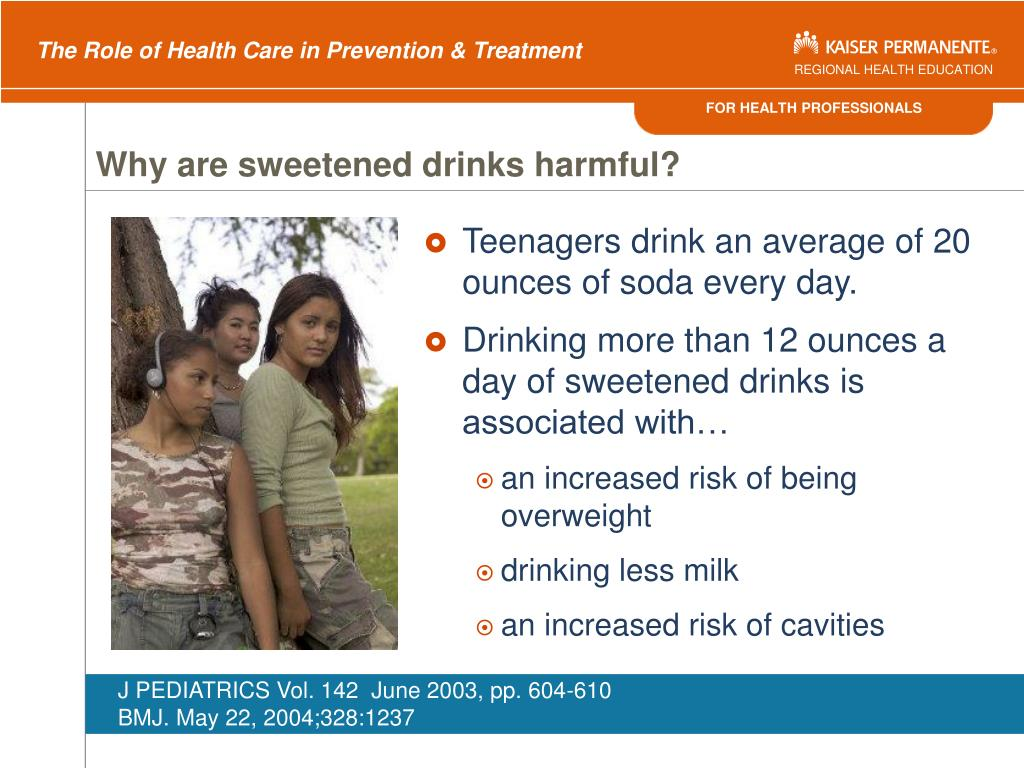Why are sweetened drinks harmful?