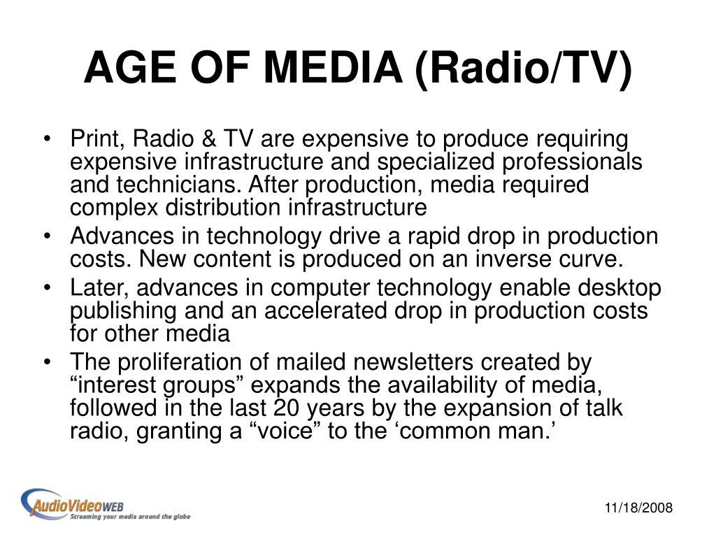AGE OF MEDIA (Radio/TV)