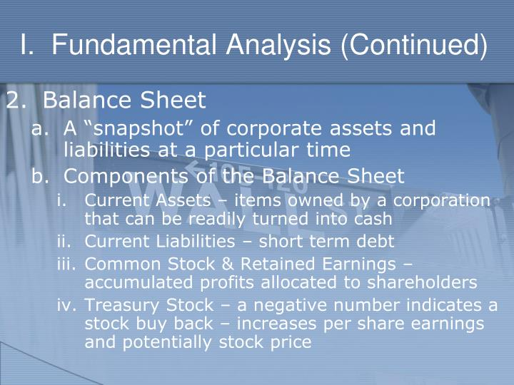 I fundamental analysis continued3