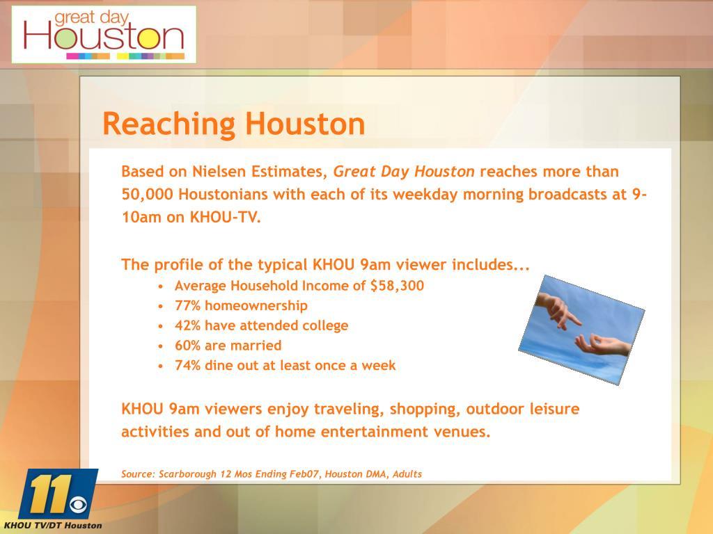 Reaching Houston
