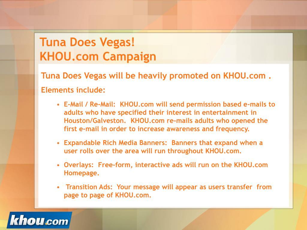 Tuna Does Vegas! KHOU.com Campaign