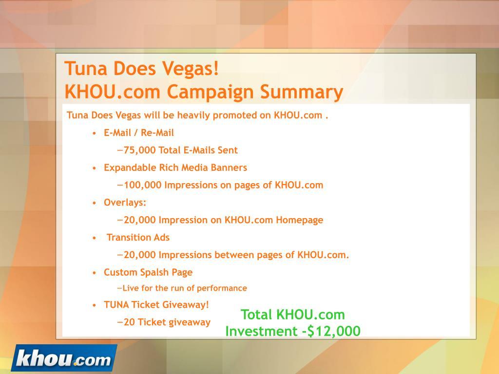Tuna Does Vegas!