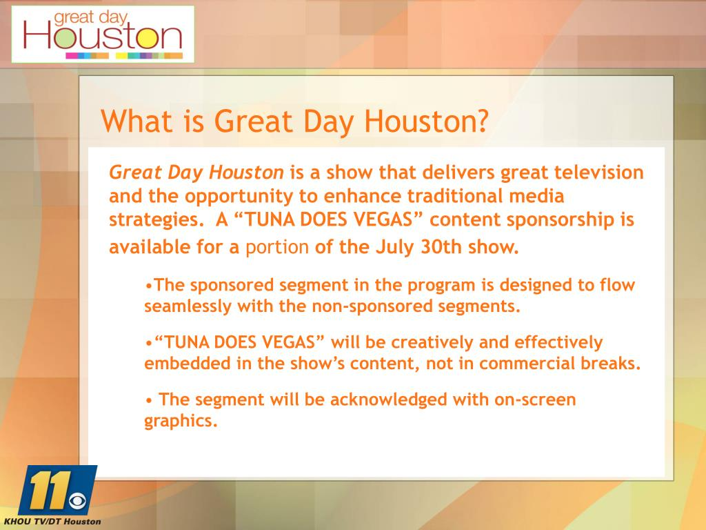 What is Great Day Houston?