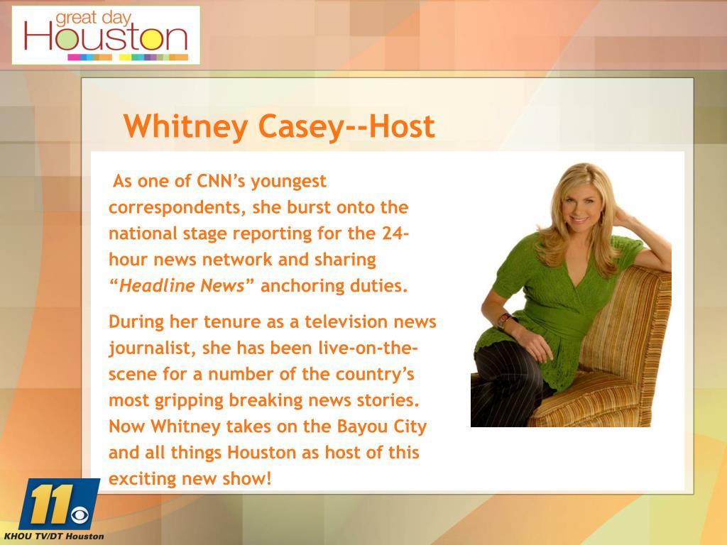 Whitney Casey--Host