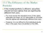 13 1 the efficiency of the market portfolio