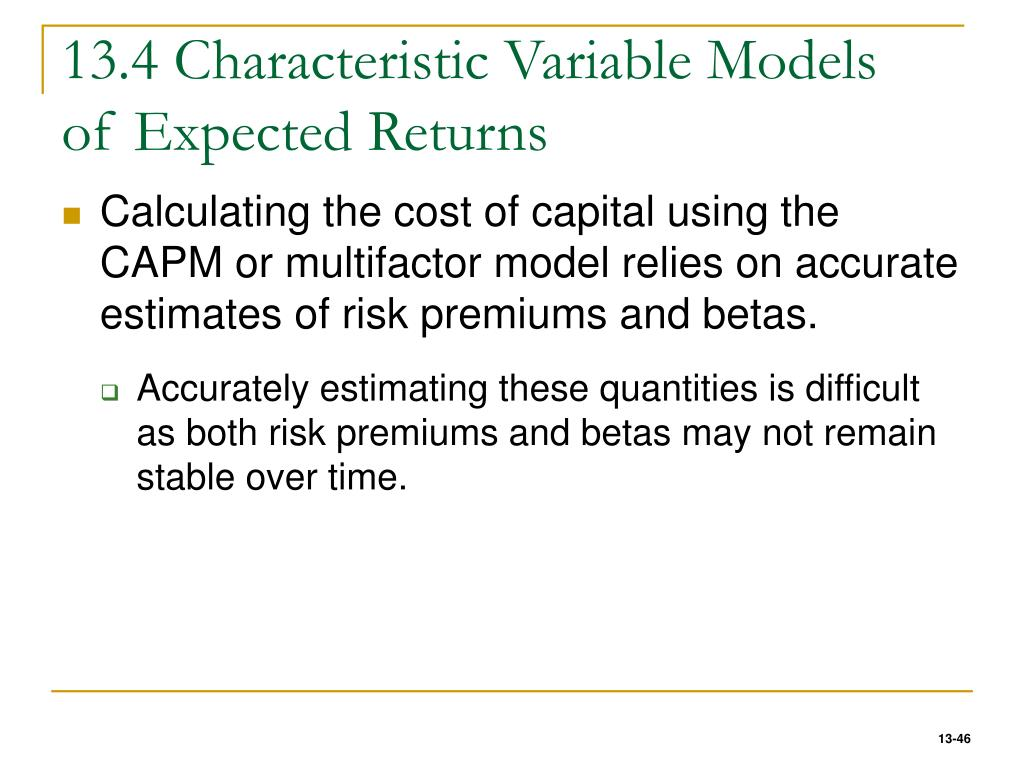 13.4 Characteristic Variable Models