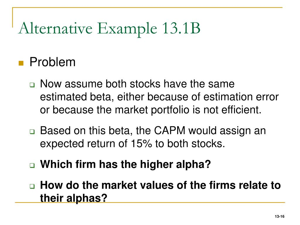 Alternative Example 13.1B