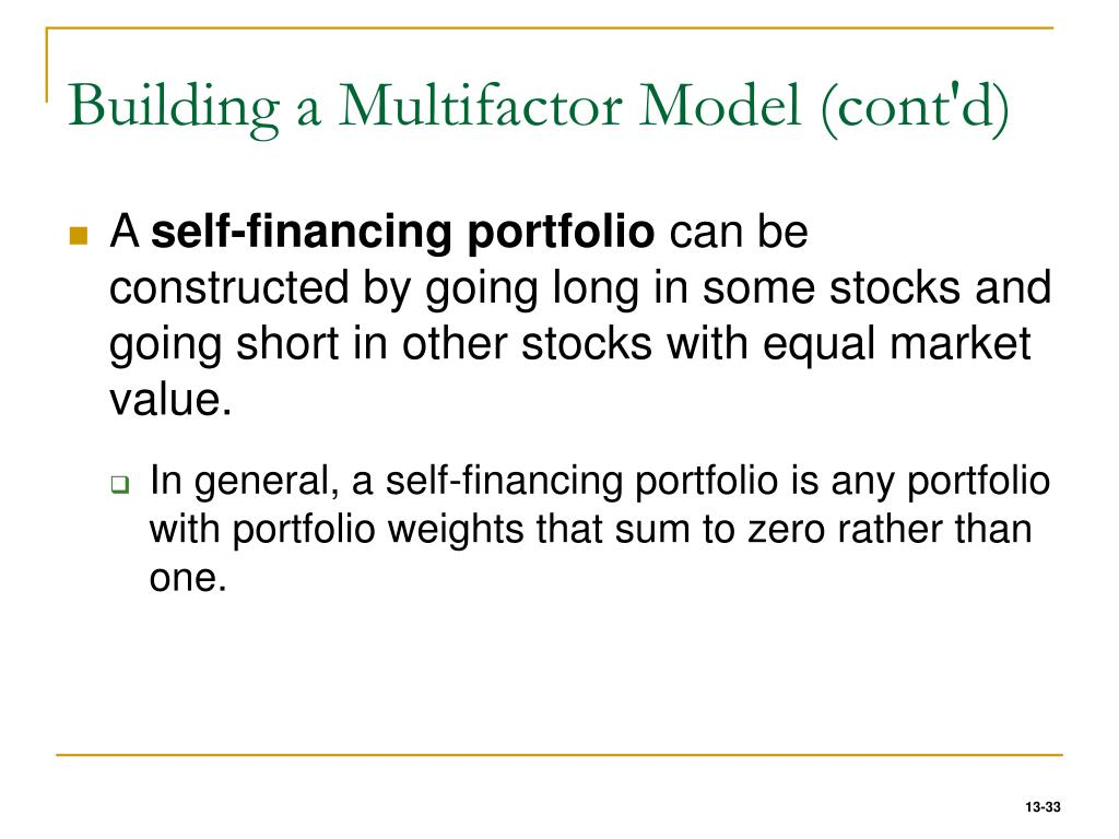 Building a Multifactor Model (cont'd)