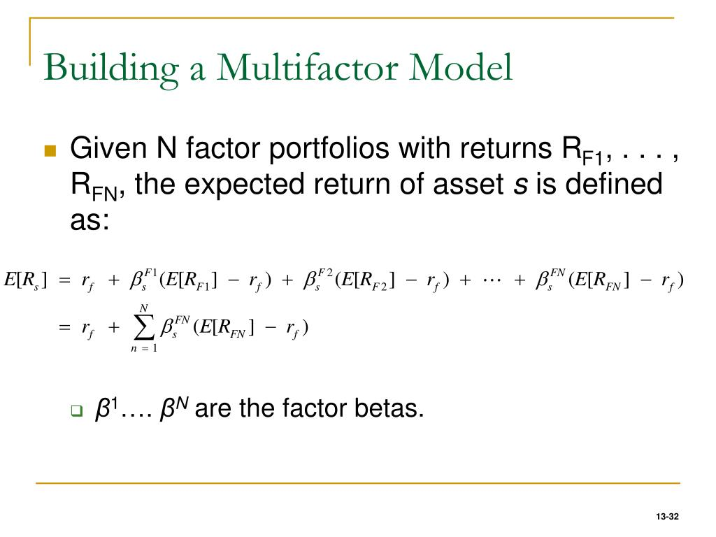 Building a Multifactor Model