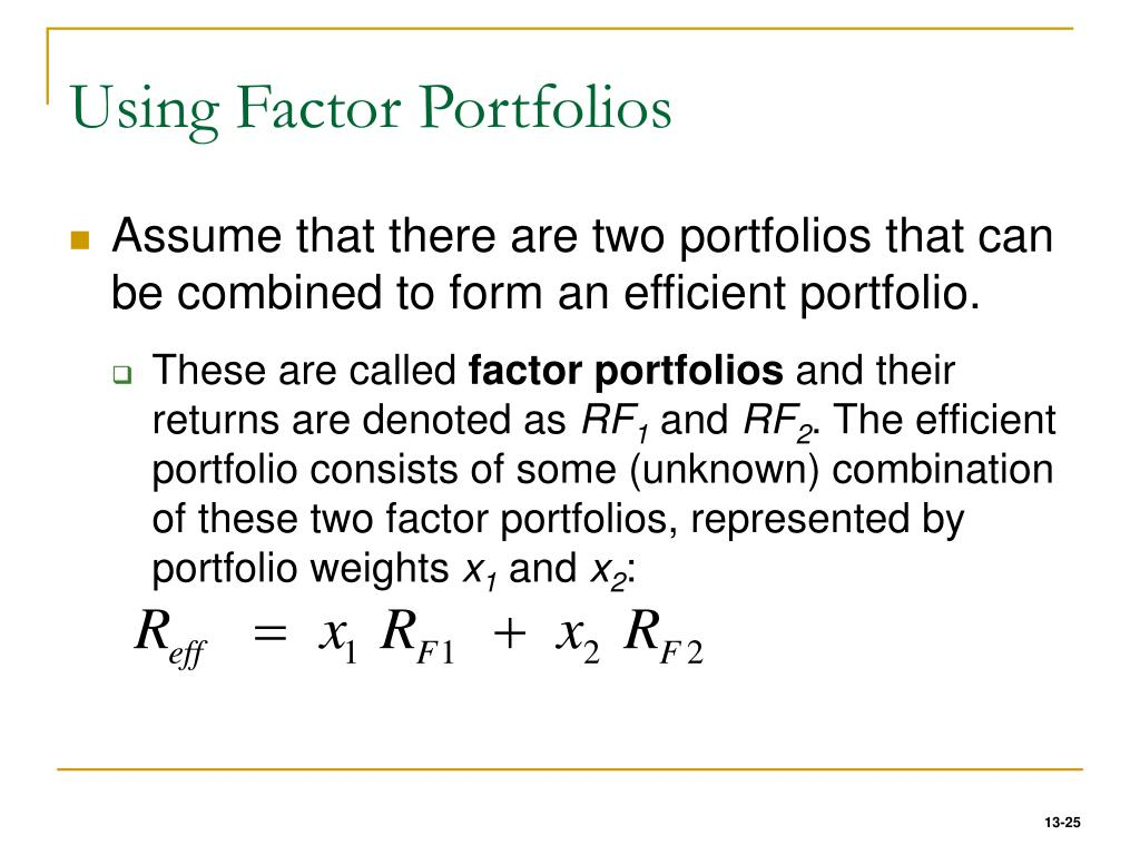 Using Factor Portfolios