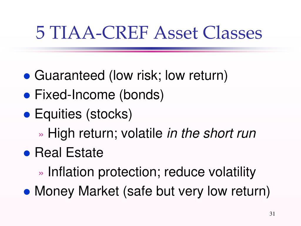 5 TIAA-CREF Asset Classes