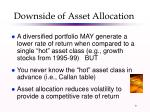 downside of asset allocation