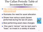 the callan periodic table of investment returns
