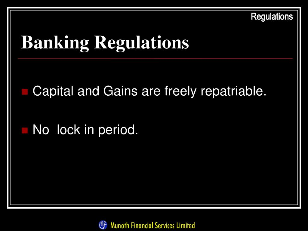 Banking Regulations