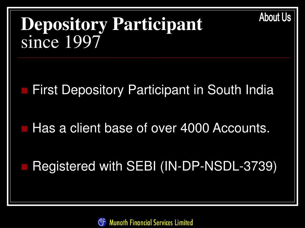 Depository Participant