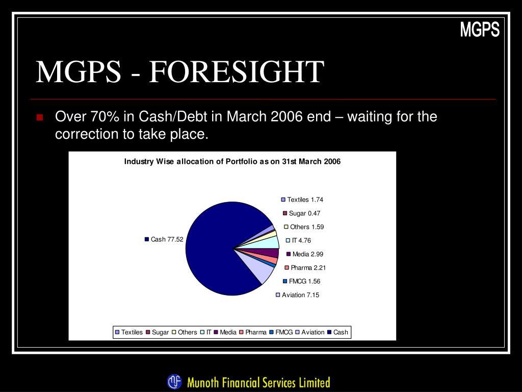 MGPS - FORESIGHT