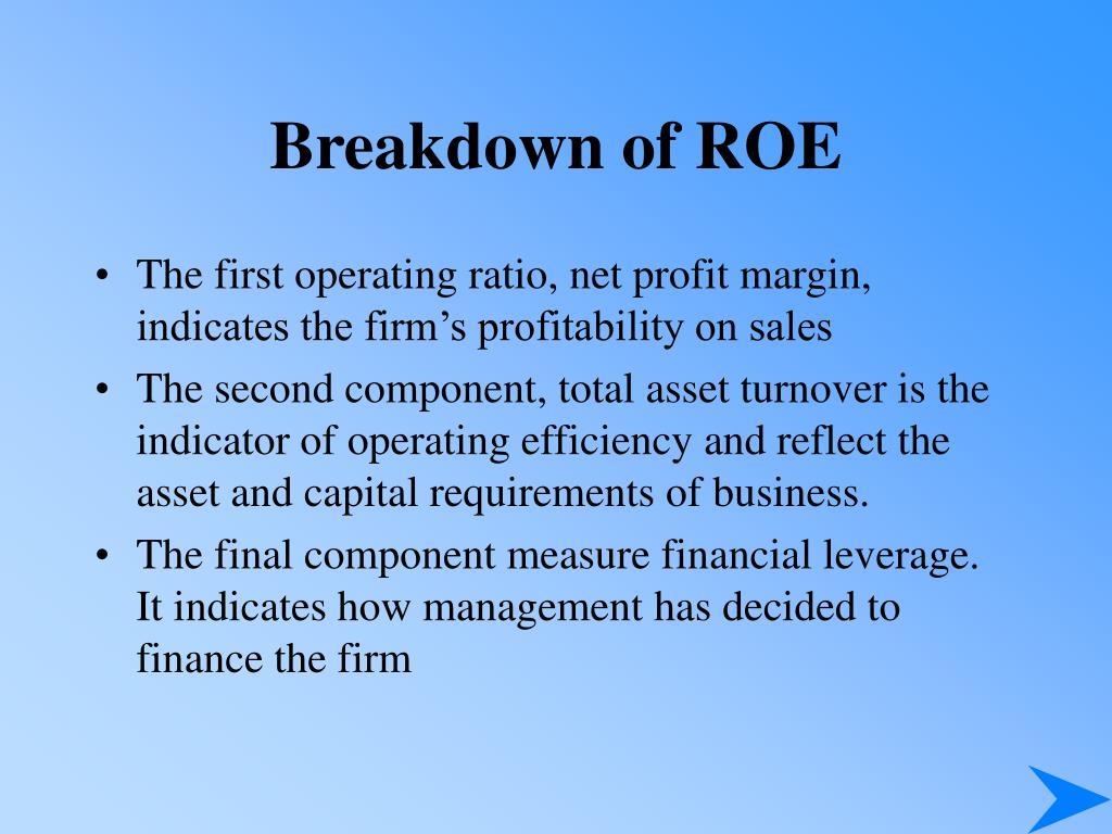 Breakdown of ROE