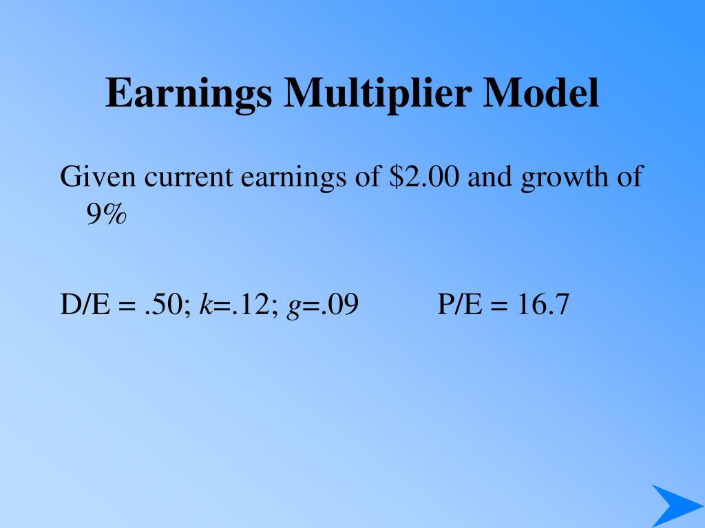 Earnings Multiplier Model