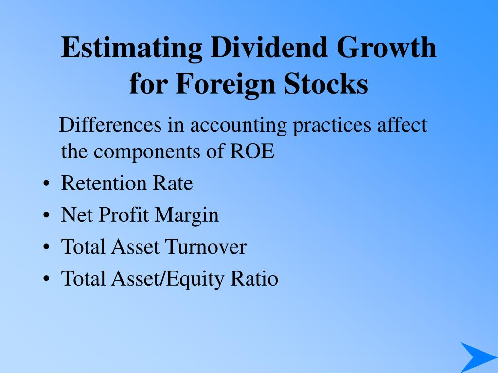 Estimating Dividend Growth