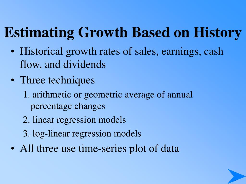 Estimating Growth Based on History